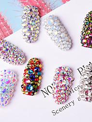 cheap -5 Pcs/set Nail Art Colorful Diamond AB Flat Diamond Jewelry Rhinestone Protein Diamond Jewelry Nail Decoration