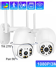 cheap -Double Light Dome Security Cameras Wifi Smart Monitor Two-way Voice Intercom Ptz Control Black Light Full Color Night Vision