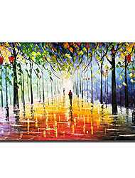 cheap -Oil Painting Handmade Hand Painted Wall Art Color Landscape Abstract Home Decoration Decor Stretched Frame Ready to Hang
