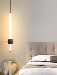 cheap -LED Pendant Light Nordic Bedside Chandelier Modern Simple Living Room Background Wall Bar Long Line Chandelier Bedroom Single Head Tooling Small Chandelier