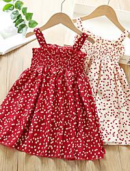 cheap -Kids Little Girls' Dress Dot Blushing Pink Red Dresses