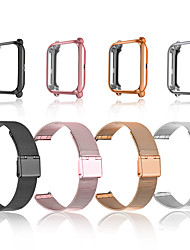 cheap -Smart Watch Band for Samsung Amazfit Huawei 2 PCS Classic Buckle Milanese Loop Business Band Stainless Steel Replacement  Wrist Strap for Amazfit Bip Amazfit Bip Lite Garmin Venu Garmin Venu Sq