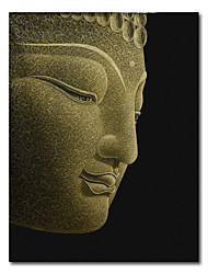 cheap -Wall Art Canvas Prints Painting Artwork Picture Modern BuddhismGolden Buddha Head Abstract Home Decoration Décor Rolled Canvas No Frame Unframed Unstretched