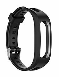 cheap -1pc adjustable sports silicone wrist strap soft replacement watch band bracelet strap for huawei band 4e 3e for honor band 4 running (band color : black)