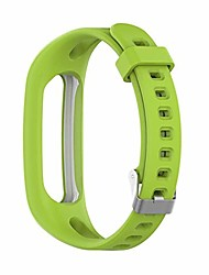 cheap -silicone sport watch strap for huawei bnad 3e/4e huawei honor band 4 running version smart bracelet replacement wristband 0208 (color : green, size : forhuawei band 3e)