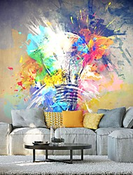 cheap -Mural Wallpaper Wall Sticker Covering Print Peel and Stick Self Adhesive Colorful Graffiti Lamp Abstract Canvas PVC Vinyl Home Décor