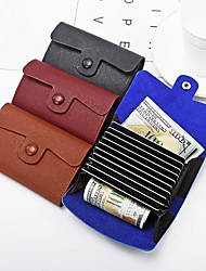 cheap -Simple and fashionable organ leather business credit pocket card holder wallet for men and women