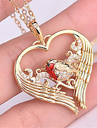 cheap -Women's Pendant Necklace Charm Necklace Classic Heart Precious Fashion Zircon Copper Gold Plated Gold 45 cm Necklace Jewelry 1pc For Christmas Party Evening Street Gift Birthday Party