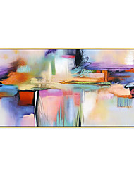 cheap -Oil Painting Handmade Hand Painted Wall Art Colorful Abstract Wall Art Home Decoration Decor Stretched Frame Ready to Hang