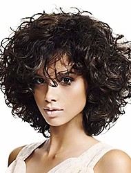 cheap -short curly afro wigs for black women kinky curly hair wig natural fashion synthetic full wig for african american women for daily party with wig net