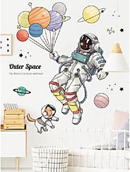cheap -Wall Stickers Astronaut Stickers Spaceship Planet Sticker Gas Children's Room Cartoon Ball Kindergarten Wallpaper