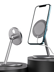 cheap -Phone Holder Stand Mount Desk Phone Holder Phone Desk Stand Adjustable Magnetic Phone Holder Aluminum Alloy Phone Accessory iPhone 12 11 Pro Xs Xs Max Xr X 8 Samsung Glaxy S21 S20 Note20