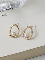 cheap -s925 pearl earrings 2021 new trendy ins simple earrings small exquisite ear clips without pierced ears
