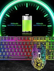 cheap -Free Wolf T87 Wireless Charging Keyboard And Mouse Set Game Luminous Wireless kKeyboard And Mouse Set