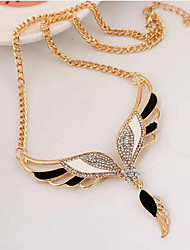 cheap -Women's Cubic Zirconia Pendant Necklace Classic Angel Wings Fashion Alloy Gold 45+5 cm Necklace Jewelry 1pc For Anniversary Street Birthday Party Festival
