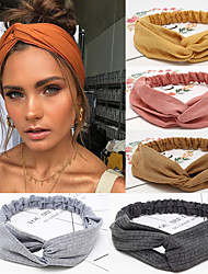 cheap -5 Pcs/set Women Headband Cross Top Knot Elastic Hair Bands Soft Solid Color Girls Hair Band Hair Accessories Twisted Knotted Headwrap