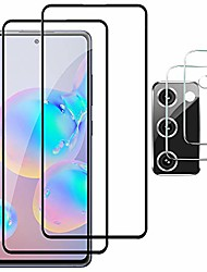 cheap -galaxy s20 fe screen protector, (2+2 pcs) tempered glass ultrasonic fingerprint sensor compatible, strong adhesive, bubble-free, 3d curved, scratch-resistant for s20 fe 5g screen protector