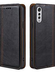 cheap -Phone Case For LG Full Body Case Leather Magnetic Adsorption LG V40 LG V50 LG V30 LG V20 LG Q7 LG K40 LG G7 ThinQ LG G6 K50S LG K61 Dustproof Water Resistant Tile Solid Colored PU Leather
