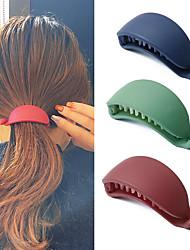 cheap -3 Pcs/set Cute Candy Colors Banana Shape Hair Claws Women Girls Sweet Hair Clips Ponytail Holder Hairpins Fashion Hair Accessories