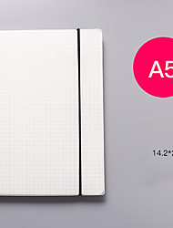 cheap -A5 Horizontal line White paper Grid Dot hand account Book Strap Notepad Notebook Diary-yx2-yyn