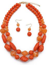 cheap -double-layer accessories creative drop pendant necklace