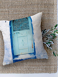 cheap -Moroccan Door Double Side Cushion Cover 1PC Soft Decorative Square Throw Pillow Cover Cushion Case Pillowcase for Bedroom Livingroom Superior Quality Machine Washable Outdoor Cushion for Sofa Couch Bed Chair Blue