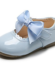 cheap -Girls' Babies' Flats Glitters Lightweight Comfort Leather Dress Shoes Toddler(9m-4ys) Little Kids(4-7ys) Daily Party & Evening Walking Shoes Bowknot Buckle Red Blue Pink Fall Spring / Mary Jane