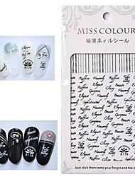 cheap -4 Pcs/set Nail Art Stickers Adhesive Decals Popular English Letters Personalized Patterns Style Nail Stickers