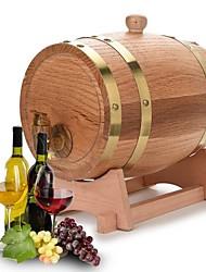 cheap -3L Vintage Wood Oak Timber Wine Barrel Dispenser for Whiskey Bourbon Tequila Furniture