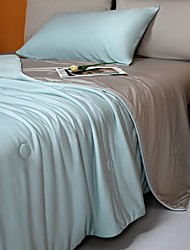 cheap -Class A cool feeling anti-bacterial air conditioning by ice silk summer cool by machine washable quilt core double thin quilt summer air conditioning quilt