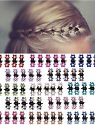 cheap -65pcs Mini Hair Clips No-Slip Grip Jaw Clips Glitter Teeth Clips Rhinestone Hair Clips Metal Clamps Mix Colored Flower Hair Accessories for Women Girls