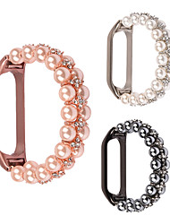 cheap -Smart Watch Band for Xiaomi 1 pcs Modern Buckle Jewelry Design Stainless Steel Elastic Beaded Replacement  Wrist Strap for Xiaomi Band 4 Xiaomi Band 5 Xiaomi Band 6
