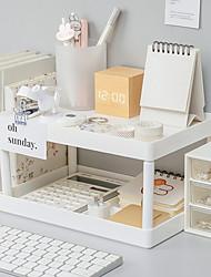 cheap -Plastics White 1 pcs Storage Box / Organizer Boxes  Desk Organizer Desktop Storage Box 28*18.5*15 cm