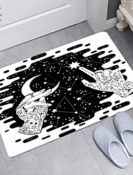 cheap -Starry Sky Series Digital Printing Floor Mat Modern Bath Mats Nonwoven / Memory Foam Novelty Bathroom