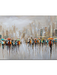 cheap -Oil Painting Handmade Hand Painted Wall Art People Scenery Abstract Pictures Home Decoration Decor Stretched Frame Ready to Hang