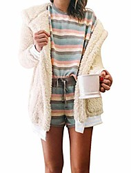 cheap -Women's Cardigan Sweater Dress Pure Color Solid Color Casual Long Sleeve Sweater Cardigans Open Front Fall Spring Orange powder Gray Beige