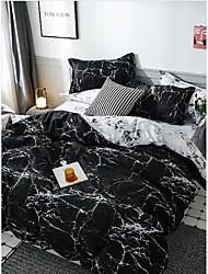 cheap -Print Home Bedding Duvet Cover Sets Soft Microfiber For Kids Teens Adults Bedroom Geometric 1 Duvet Cover + 1/2 Pillowcase Shams
