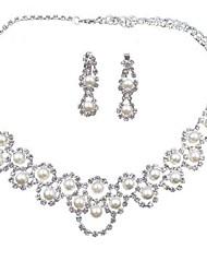 cheap -Women's Jewelry Set Stylish Sweet Earrings Jewelry Silver For Wedding Festival