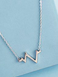 cheap -yongcheng simple heartbeat frequency electrocardiogram lightning wave s925 sterling silver necklace clavicle chain gift female models on behalf of