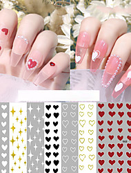 cheap -4 Styles/set Nail Stickers Love Stickers Small Fresh Nail Art Accessories White Stars Awning With Adhesive Nail Decals
