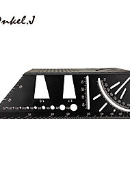 cheap -Aluminum Alloy Multifunctional Angle Ruler 45/90 Degree Crossing Line Angle Ruler Three Dimensional Woodworking Stop Type Fixed Gauge Tool