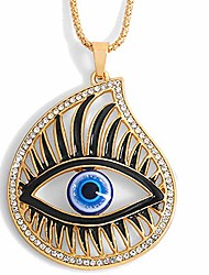 cheap -blue evil eye eyelash protection necklace pendant for women girls clear cz sparkly dainty long chain chic bar daughter teens stacking birthday friendship bff fashion bar jewelry 28inch
