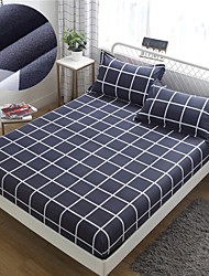 cheap -Roman Simplicity 1PC Soft Printed Fitted Sheet With Elastic Band Bed Sheet Cover (No Pillowcases)Full Queen King Size Dropshipping