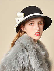 cheap -Retro Wool Felt Hats with Bowknot 1pc Casual / Holiday Headpiece
