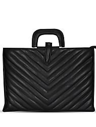 cheap -12 Inch Laptop / 13.3 Inch Laptop / 14 Inch Laptop Sleeve / Shoulder Messenger Bag / Briefcase Handbags Leather Stripes for Women for Business Office for Travel Shock Proof