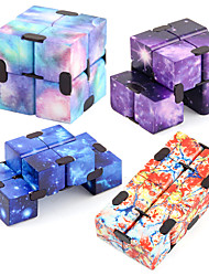 cheap -Infinity Cube 2 Pieces Fidget Cube Toy Stress Anxiety Relief for Adults and Kids Hand-Held Magic Puzzle Flip Cube Fidget Finger Toys Cube for ADD ADHD Killing Time Galaxy Space