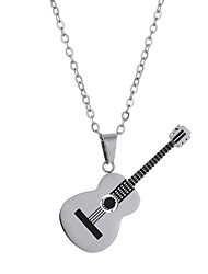 cheap -lureme Fashion Guitar Pendant Necklace Stainless Steel Tennis Racket Necklace