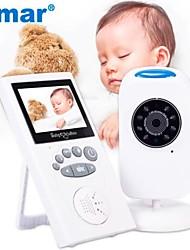 cheap -Smar 2.4 inch Audio Video Wireless Baby Monitor Security Camera Baby Nanny Music Intercom Night Vision Temperature Monitoring
