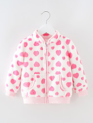 cheap -Kid's Girls' Jacket & Coat Long Sleeve Mixed Color Children Tops Casual / Daily 1-6 Years