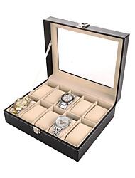 cheap -Storage Organization Storage Box Mixed Material Square Flip-open Cover 25*20*8cm